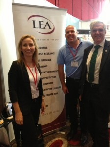 I join Angie and Thomas from Lea Insurance Brokers at their trade stand at the paint conference.