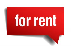 For Rent Red 3D Realistic Paper Speech Bubble