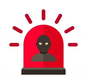 Thief alert vector illustration.