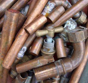 Scrap copper metal.