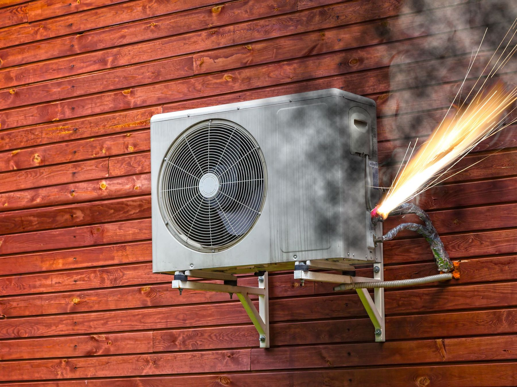 Air-conditioner fires on the increase = greater need for smoke detectors in bedrooms