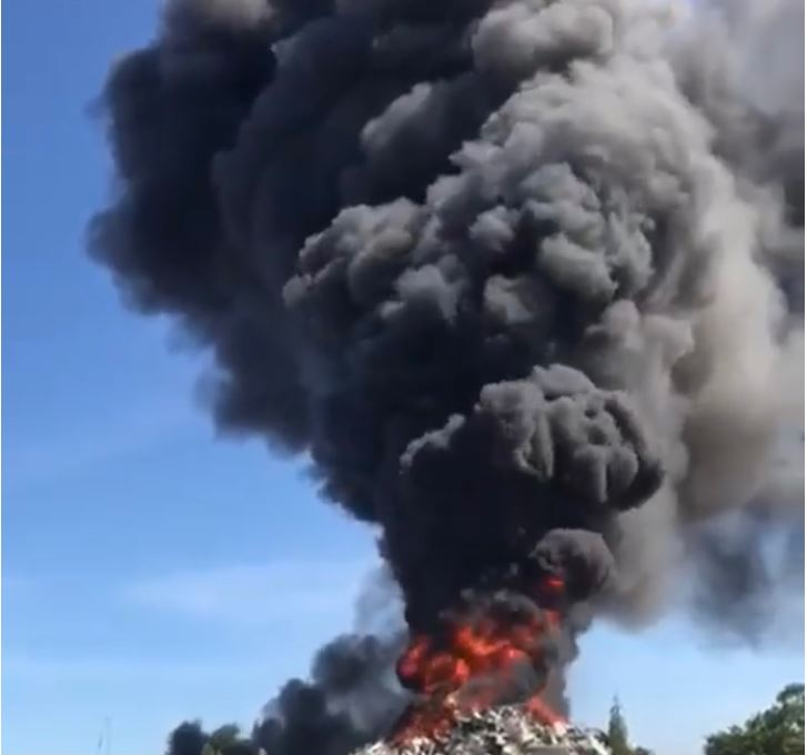 Yet another fire at a recycle centre while millions collected in taxes